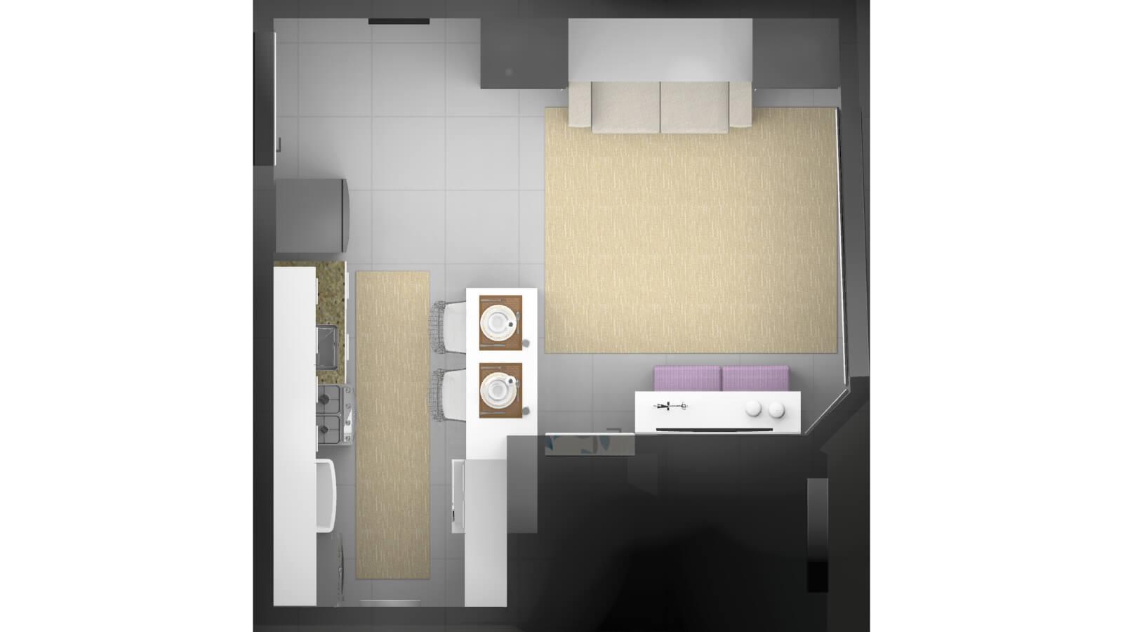Alfa Center Kitnet Novo Hamburgo - Contrutora G Ghem Engenharia - 3