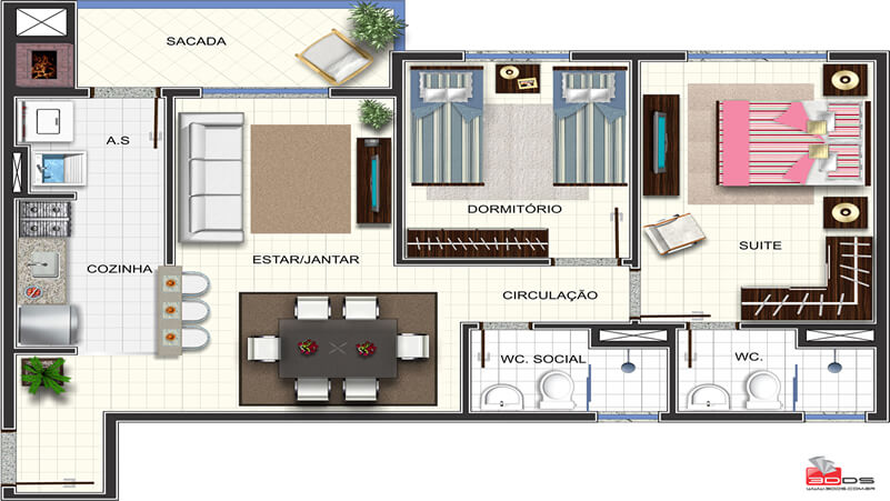 Edificio Residencial Goitacaz - G Ghem Engenharia - Apto_02