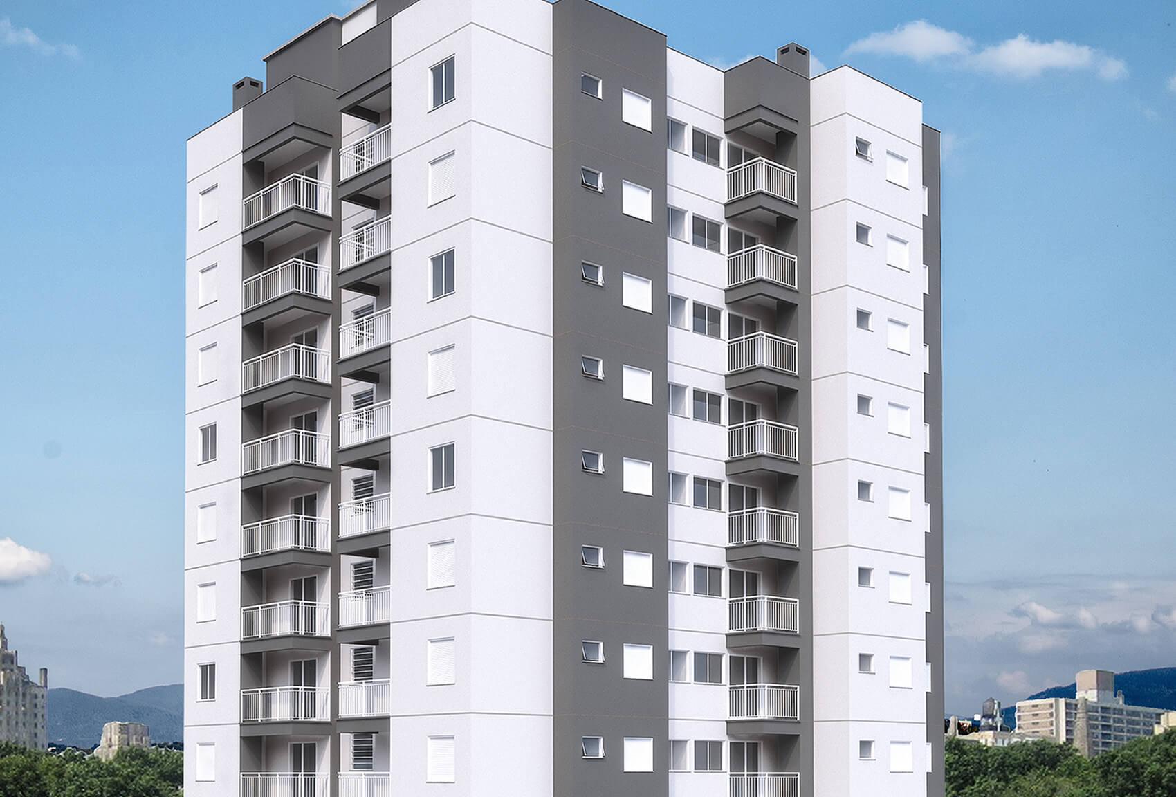 Edificio Residencial Ideal Fachada Destaque em Novo Hamburgo - G Ghem Engenharia